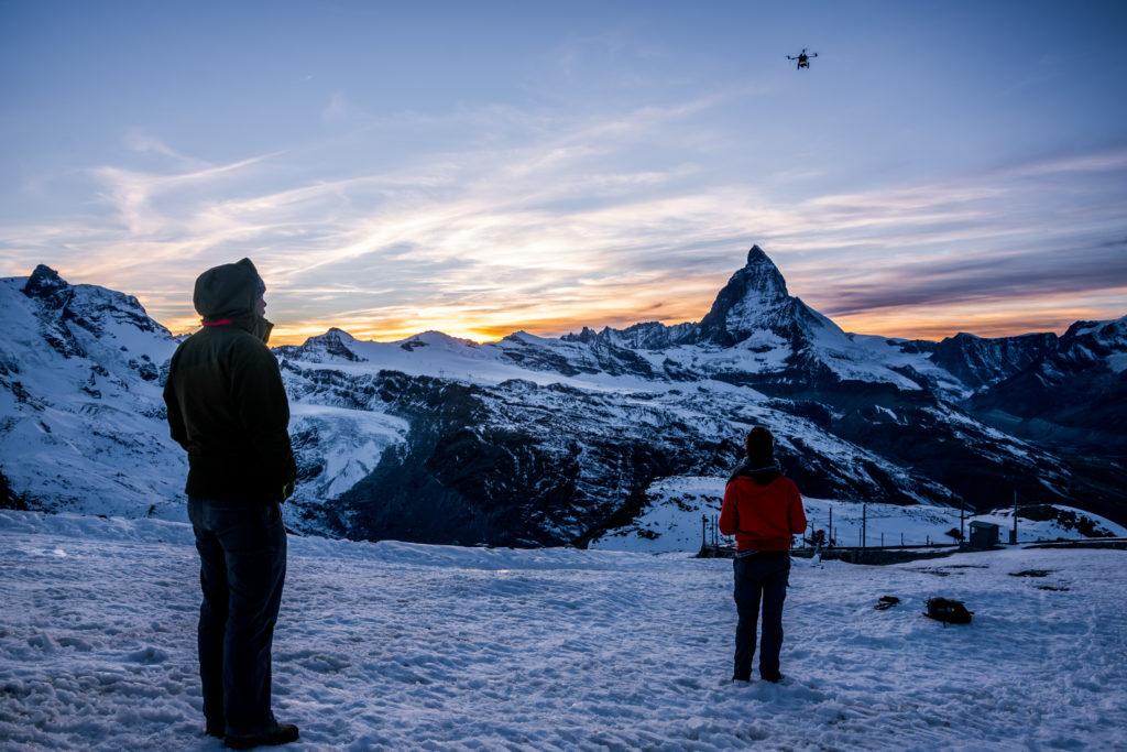 vol de drone à Zermatt