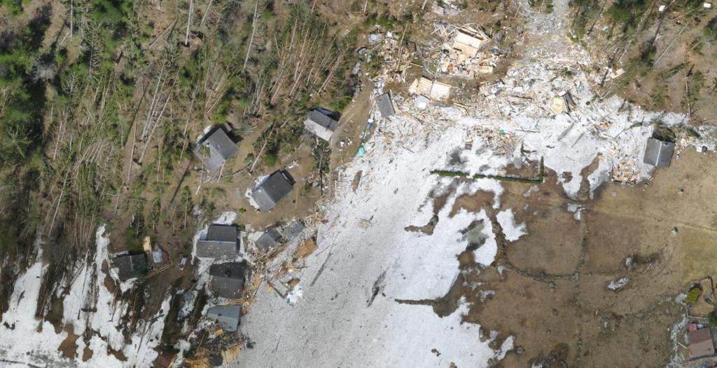 avalanche du Van d'en Haut à Salvan