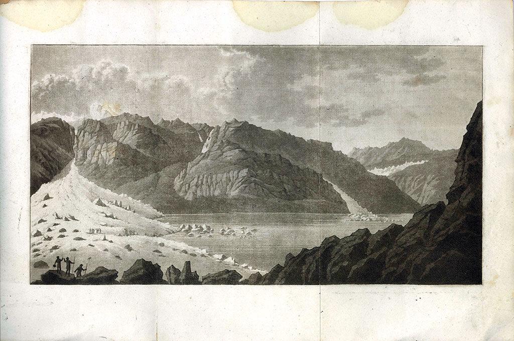 lac sous le glacier du Giétro le 16 mai 1818
